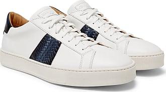Santoni Two-tone Leather Sneakers - White