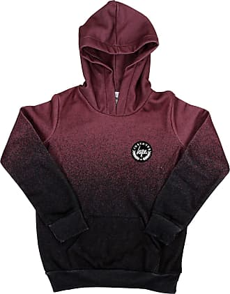 Hype Speckle Fade Kids Pullover Hoodie - Burgundy/Black