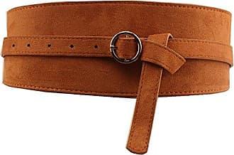 98aa91d500266b Cheerlife Damen Hüftgürtel breiter Gürtel 9,5cm Vintage Taillengürtel für  Kleid Bluse (Kamel)