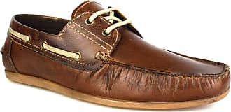 Redtape Stratton Brown Leather Mens Casual Boat Shoes