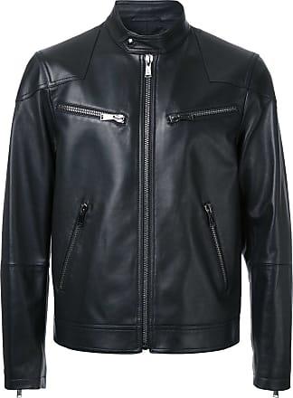 Kent & Curwen leather biker jacket - Black