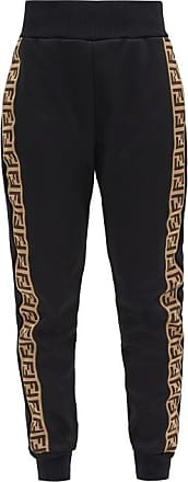 Fendi Ff-monogram Jersey Track Pants - Womens - Black