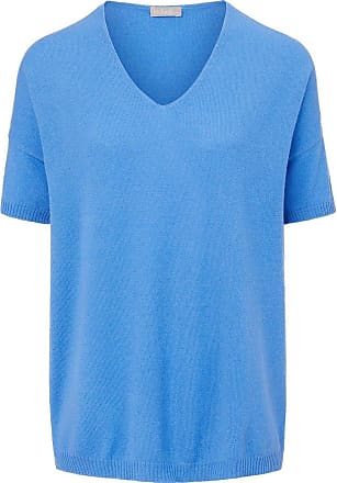 include V-Pullover aus 100% Premium-Kaschmir include blau