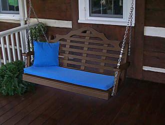 A & L Furniture A & L Furniture 867-TB TUDORBROWN Poly 4 Marlboro Garden Bench, Tudor Brown