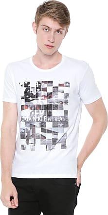 Calvin Klein Jeans Camiseta Calvin Klein Jeans Estampada Branca