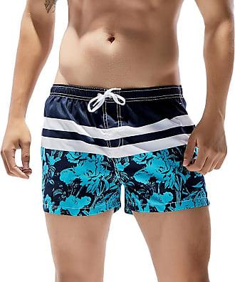 NPRADLA Summer Mens Shorts Swimming Shorts Vintage Mens Shorts Swim Trunks Quick Dry Beach Surfing Running Swimming Watershort Grey