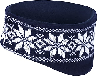 Result Fair Isles Winter Head Warmer (Microfleece Lined) (One Size) (Navy/White)