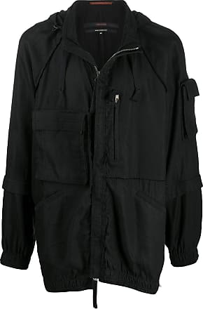 Ziggy Chen hooded layered-sleeve jacket - Black