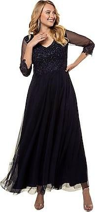 88042805e313 Ulla Popken Beautiful Lace Accent V-Neck Line Maxi Dress - Plus size fashion