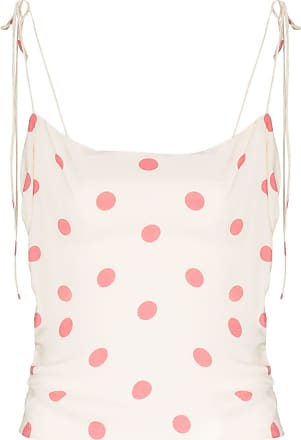 Reformation Top a pois Lupe - Color carne