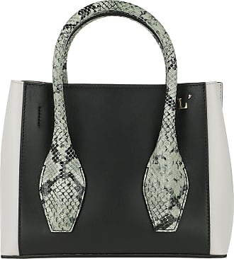L'autre Chose Tote - Mini Tote Bag Off White/Black/Sage Green - colorful - Tote for ladies
