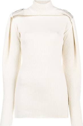 Y / Project Suéter com detalhe nos ombros - Neutro