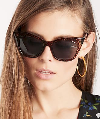 Sole Society Womens Ary In Color: Leopard Tortoise Over Cat Eye Sunglasses One Size PLASTIC From Sole Society