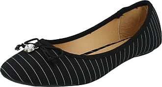 Spot On Ladies Spot On Flat Casual Shoes Black Textile Size 6