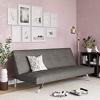 Dorel Home Products DHP 2028429 Zoe Futon Convertible Sofa Bed Couch, Gray