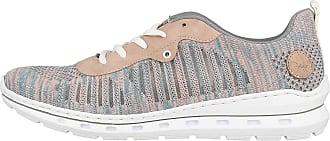 Rieker Womens L2227 Sneaker, Blue Rose Dusky Pink 12 Blue, 9 UK