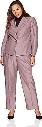 Le Suit Womens Plus Size Denim Pantsuit Dark Navy 24W