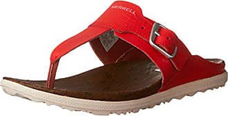 Merrell Womens Around Town Post Print Athletic Sandal, Fiery red, 7 M US