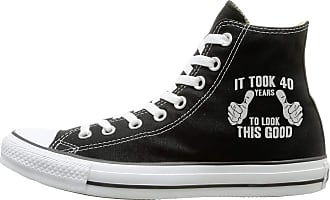 Juju It Took 40 Years to Look This Good Unisex Sneakers High Canvas Shoes Black