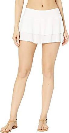 Body Glove Womens Smoothies Lambada Solid Mesh Cover Up Skirt Swimsuit, Snow, Medium