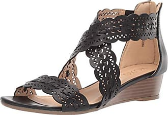 xoxo Womens Ambridge Sandal, Black, 6 M US