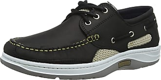 Quayside Unisex Adults Sydney Boat Shoes, Black (Black 001), 11 (46 EU)