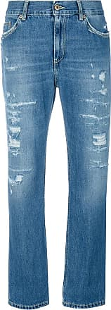 Dondup cropped distressed jeans - Blue
