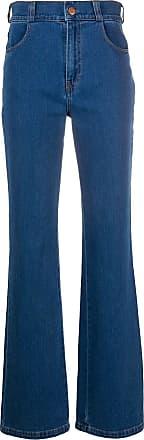 See By Chloé Calça jeans bootcut cintura alta - Azul