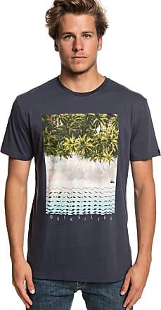 Quiksilver Perth Or Bust - T-Shirt - Men - M - Blue