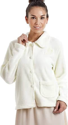 Camille Womens Soft Button and Zip Bed Jackets and Designs 22/24 Ivory