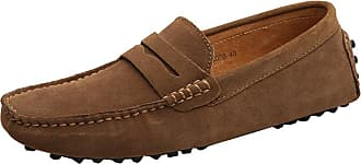 MGM-Joymod Mens Slip-on Brown Suede Driving Moccasin Penny Loafers Boat Shoes 10.5 M UK
