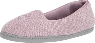 Dearfoams Womens Rebecca Chenille Closed Back Slipper, Frosted Plum, X-Large Wide