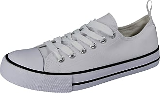 Urban Jacks Ladies Girls Kids Canvas Low Top Lace Up Trainers Size 13-8 (7 UK, Bright White)