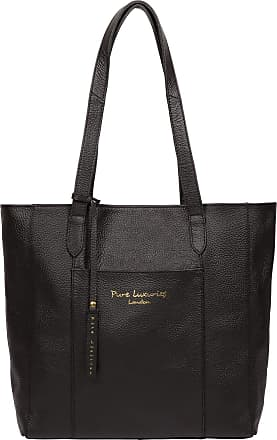 Pure Luxuries London Pure Luxuries London Keisha Womens 40cm Biodegradable Leather Tote Bag with Open Top Design, Unlined Central Compartment and Matching Leather Handles