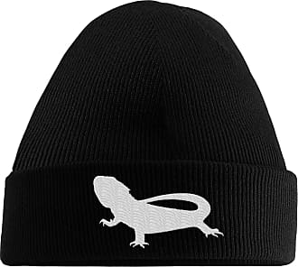 HippoWarehouse Bearded Dragon Embroidered Beanie Hat Black
