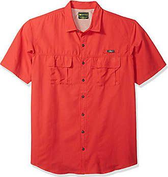 G.H. Bass & Co. Mens Size Big and Tall Explorer Short Sleeve Button Down Fishing Shirt, Legacy Chrysanthemum S2017, Large