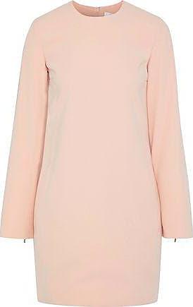 Victoria Beckham Victoria, Victoria Beckham Woman Tie-detailed Crepe Mini Dress Blush Size 10