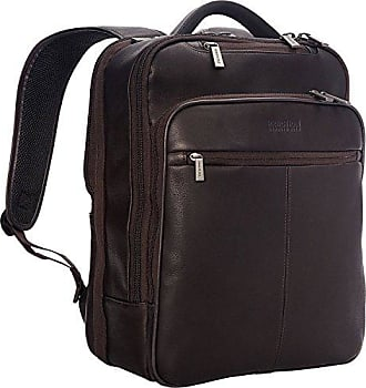 Kenneth Cole Reaction Kenneth Cole Reaction Manhattan Colombian Leather Slim 16 Laptop Checkpoint-Friendly Anti-Theft RFID Business Backpack, Brown
