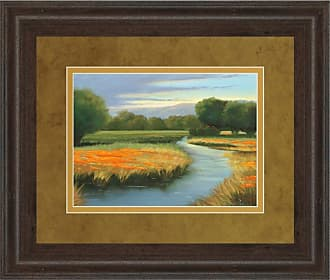 Classy Art California Orange Framed Wall Art - 34W x 40H in. - DM5404