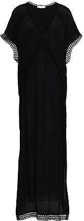 Iro Iro Woman Munola Macramé-trimmed Crepe De Chine Maxi Dress Black Size 34