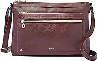 2399fb1a79ee Relic by Fossil Womens Evie Crossbody Handbag Purse, Color: Raisin