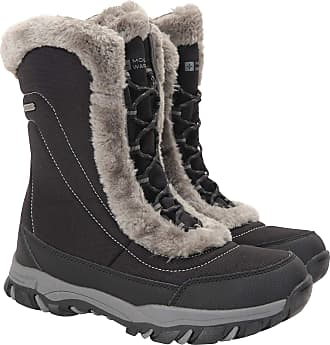 Mountain Warehouse Ohio Womens Snow Boots - Waterproof Ladies Winter Shoes, Textile Upper, Durable & Breathable Isotherm Lining & Rubber Outsole - for fit and Comfort Bl