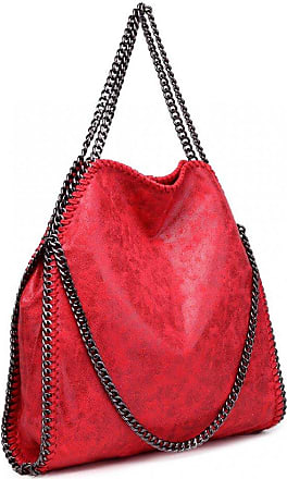 Quirk Metallic Effect Chain Tote Bag - Red