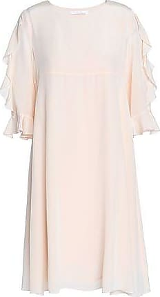 2216ddb16dff21 See By Chloé See By Chloé Woman Ruffled Crepe De Chine Dress Pastel Pink  Size 38