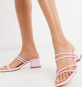 RAID – Isobel – Korallröda låga sandaler med smala remmar