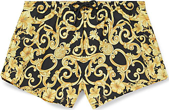 Versace Short-length Printed Swim Shorts - Gold
