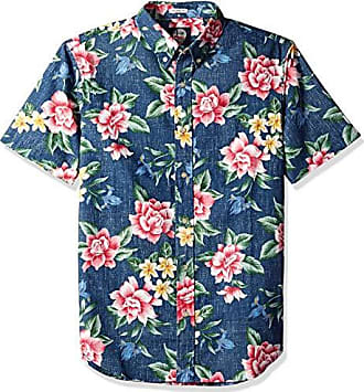 0e178423 Reyn Spooner Mens Weekend Wash Tailored Fit Hawaiian Shirt, HOU Pua NUI -  Ink,