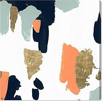 The Oliver Gal Artist Co. The Oliver Gal Artist Co. Abstract Wall Art Canvas Prints Tres Colores Home Décor, 12 x 12, White, Orange
