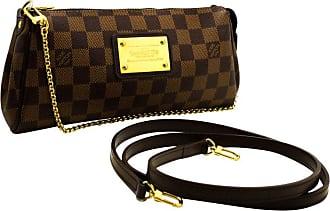 768356e2bc07 1stdibs Louis Vuitton Eva Ebene Damier Canvas Shoulder Bag Handbag Gold