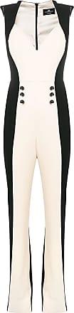 Elisabetta Franchi colour blocked jumpsuit - Black